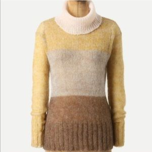 Anthro Knitted & Knotted Colorblock Sweater